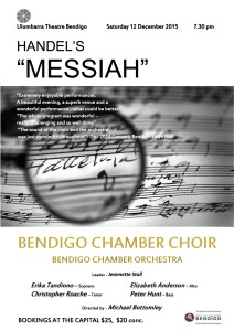 Messiah 12th December 2015, Bendigo Chamber Choir